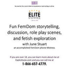 EliteDomme.com - Intelligent phone sex with a fun