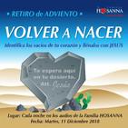 """Retiro de Adviento """"volver a nacer"""". Audio #25"""