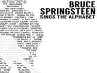 Bruce Springsteen Sings the Alphabet